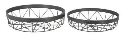 Sada dvch kovových košíkov Ø 35,5x9,5 - Ø30,5x8 cm