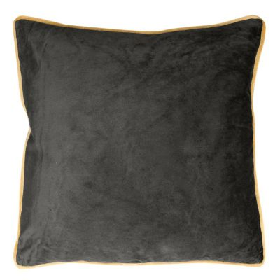 Zamatová obliečka na vankúš  BUTT, 45x45 cm čierna/zlatá
