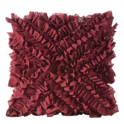 Obliečka na vankúš MIRENA, 45x45 cm bordová