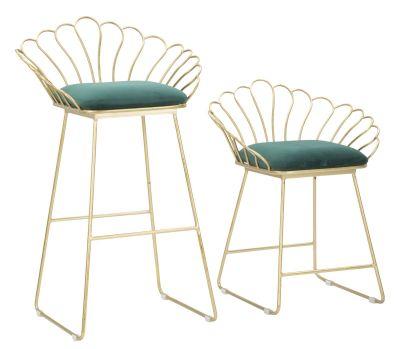 Sada luxusných stoličiek, 57x52x94-56x48x72,50 cm