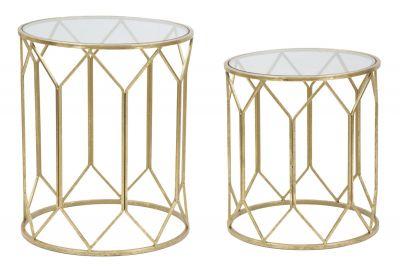 Sada luxusných stolíkov Ø50x60-45x50 cm