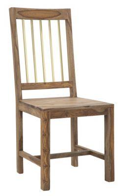 Drevená stolička MASIV SHEESHAM 45x50x100 cm, SET 2 ks