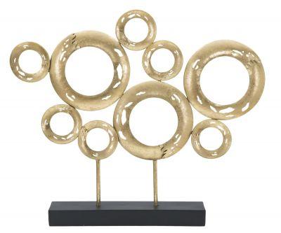 Dekorácia zlaté kruhy, 41 cm výška