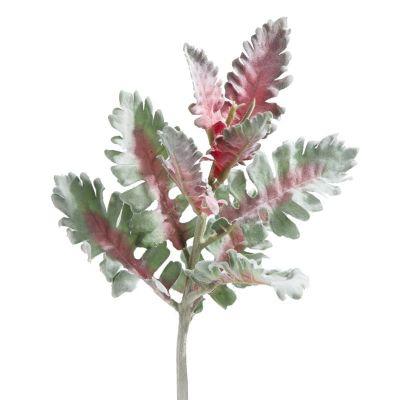 Umelý kvet NATUR 198 / listy 38x16cm ružové+zelené