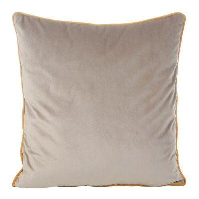 Zamatová obliečka na vankúš BUTT, 45x45 cm béžová/zlatá