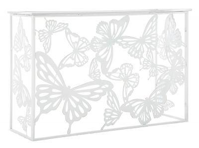 Kovová konzola s motýľmi 121,50x41x81cm