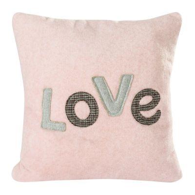 Dekoračná obliečka na vankúš LOVE 1, 45x45 ružová