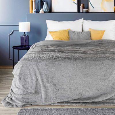 Prehoz na posteľ LUCID 200x220cm strieborný