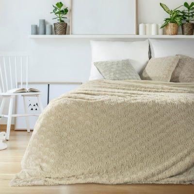 Prehoz na posteľ ROSALIA 220x240cm krémový