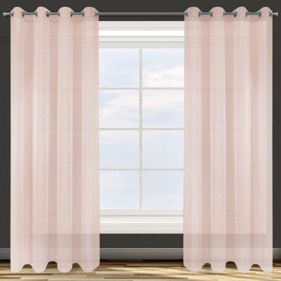 Záclona hotová s krúžkami ADEL 140x250cm ružová