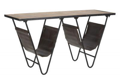 Stolík s úložným priestorom, 120x43x62,5 cm