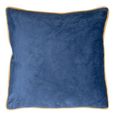 Zamatová obliečka na vankúš BUTT, 45x45 cm modrá/zlatá