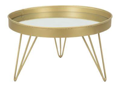 Príručnuý stolík GOLD/MIRROR Ø 31x18cm