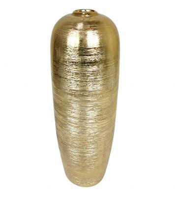 Váza keramická 43x15cm, zlatá