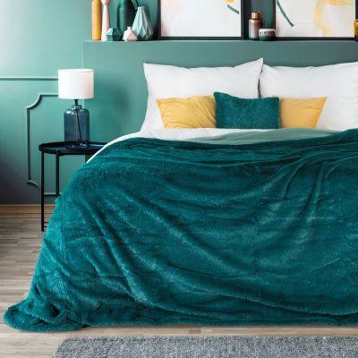 Prehoz na posteľ LUCID 200x220cm tyrkysový