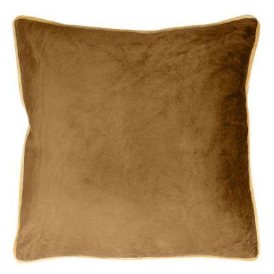 Zamatová obliečka na vankúš BUTT 45x45 cm medová/zlatá