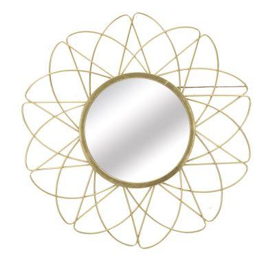 Zlaté zrkadlo Glam Ø 81,5x4 cm