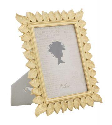 Zlatý rám na fotografiu, listy 23,5x1,8x28,3 cm