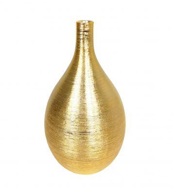 Váza keramická 36x20cm, zlatá