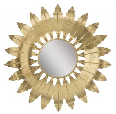 Zrkadlo zlatý list Ø 98X5 cm