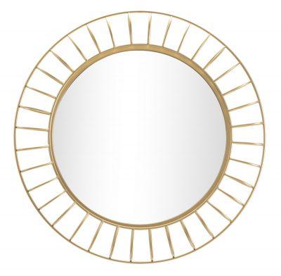Okrúhle zrkadlo, kovové zlaté  Ø 81x8,9 cm