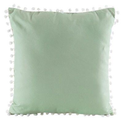 Dekoratívna obliečka na vankúš Pom-Pom, 40x40 cm zelená