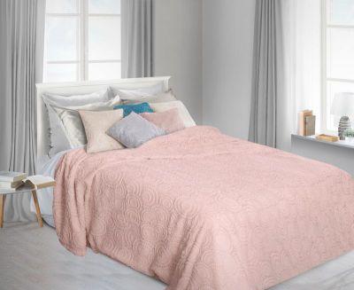 Prehoz na posteľ OFELIA 220x400cm ružový