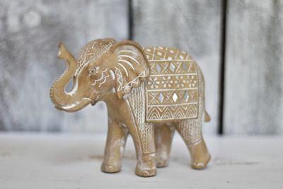 Slon polyresin hnedý 14cm
