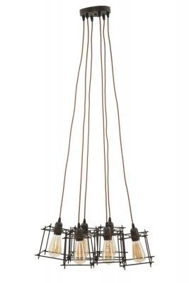 Stropné svietidlo INDUST STICK (6 svetiel) 16x16x16 cm