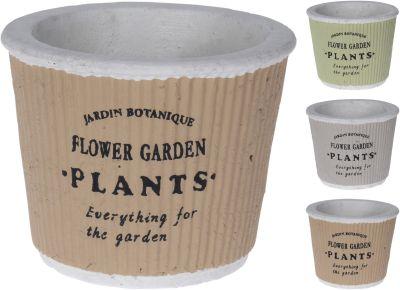 """Ker. kvetináč """"PLANTS"""" 11cm"""
