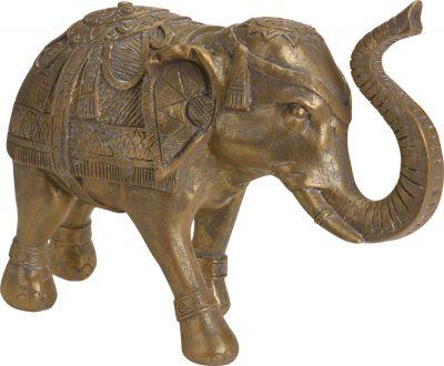 Slon polyresin, zlatý