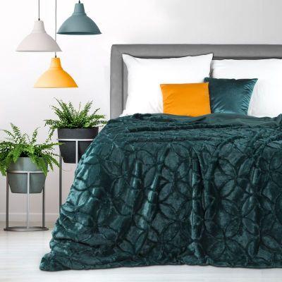 Prehoz na posteľ HAYDI 220x240cm tmav tyrkysový