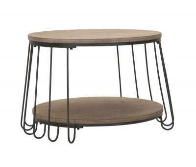 Konferenčný stolík kovový, Ø 70x44 cm