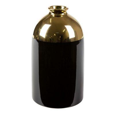 Váza BENY 1, 14x25 cm čierna-zlatá