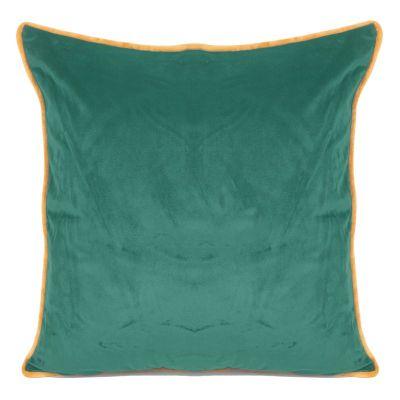 Zamatová obliečka na vankúš BUTT, 45x45 cm zelená/zlatá