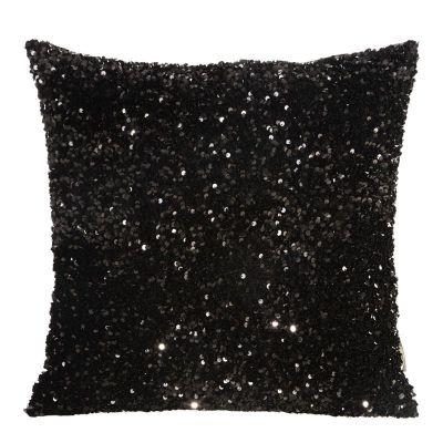 Obliečka na vankúš BELISA, 45x45 cm čierna