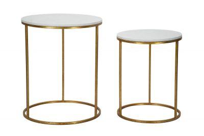 Sada luxusných stolíkov Simply Marble, Ø52x63-42x53 cm