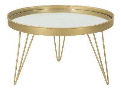 Príručnuý stolík GOLD/MIRROR Ø 36,5x22cm