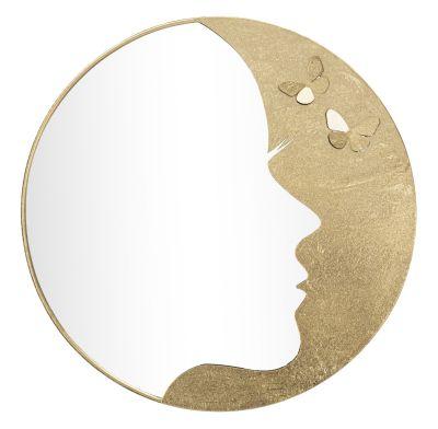 Zrkadlo Glam, zlaté  Ø 80x2,5 cm