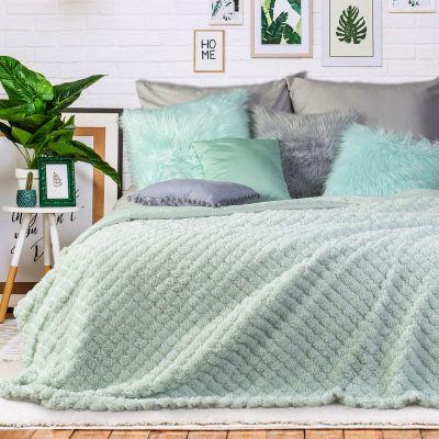 Prehoz na posteľ KELSI 200x220cm mätový