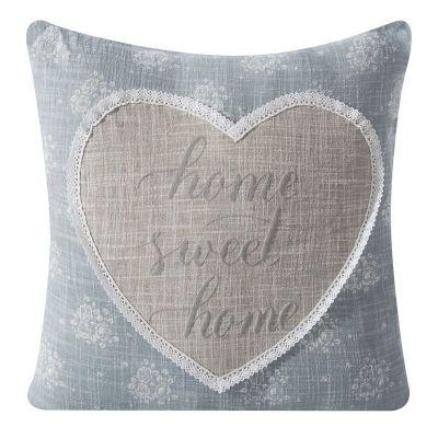Obliečka Home Sweet Home LOSA, 45x45 cm modrá/ sivá