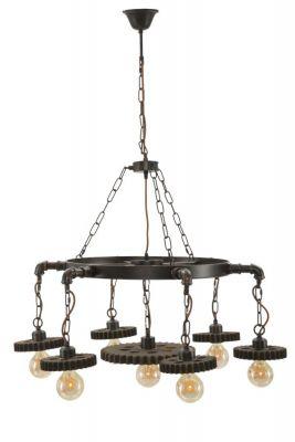 Stropná lampa s ozubenými kolesami 7 svetiel Ø 85x30cm
